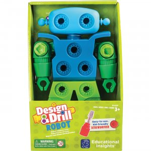 Educational Insights 4127 Design & Drill Robot Play Set EII4127