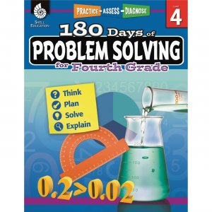 Shell 51616 180 Days of Problem Solving for Fourth Grade SHL51616