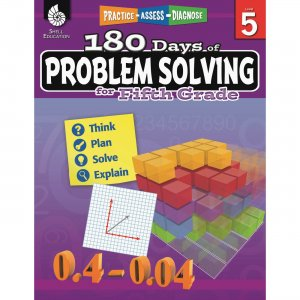 Shell 51617 180 Days of Problem Solving for Fifth Grade SHL51617
