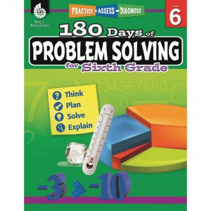 Shell 51618 180 Days of Problem Solving for Sixth Grade SHL51618