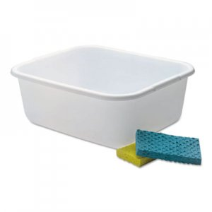 Rubbermaid RCP2951ARWHTCT Microban Dishpan, 4.5gal, White, 6/Carton