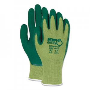 MCR Safety CRW96731GXL Memphis Glove Green Bamboo Coated Gloves, X-Large, 1 Dozen