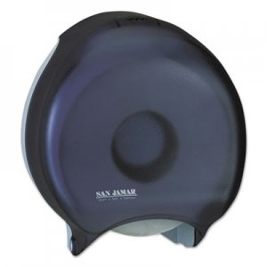 "San Jamar SJMR6000TBK Single 12"" JBT Bath Tissue Dispenser, 1 Roll, 12 9/10x5 5/8x14 7/8, Black Pearl"