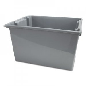 Rubbermaid Commercial RCP1732GRA Palletote Box, 19.45gal, Gray