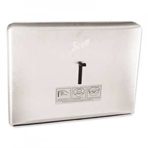 Scott KCC09512 Personal Seat Toilet Seat Cover Dispenser, Stainless Steel, 16.6 x 12.3 x 2.5