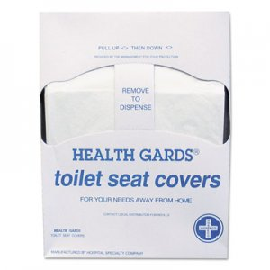 HOSPECO HOSHGQTR5M Health Gards Quarter-Fold Toilet Seat Covers, White, Paper, 200/PK, 25 PK/CT