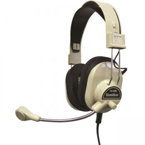 Hamilton Buhl HA-66M Over Ear Headset w/ Microphone and Volume Control