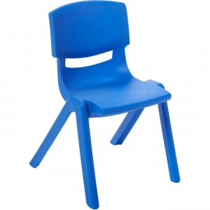 "ECR4KIDS ELR-15414-BL 14"" Resin School Stack Chair ECR15414BL"