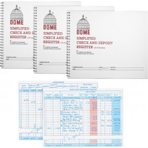 Dome 210BD Check And Deposit Register DOM210BD