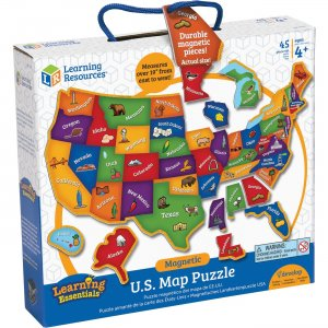 Learning Resources LER7714 Magnetic US Map Puzzle LRNLER7714