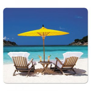 Fellowes FEL5916301 Recycled Mouse Pads, Caribbean Beach Design, 9 x 1/16