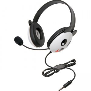 Califone 2810-TPA Stereo Headset, Panda with Mic 3.5mm Plug