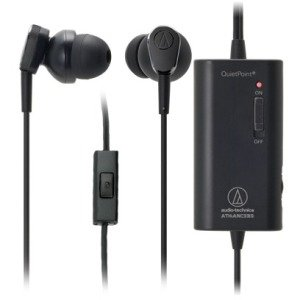 Audio-Technica ATHANC33IS QuietPoint Active Noise-Cancelling In-Ear Headphones