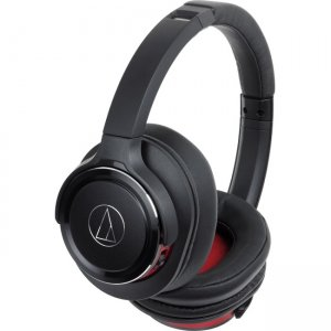 Audio-Technica ATH-WS660BTBRD Solid Bass Wireless Over-Ear Headphones with Built-in Mic & Control