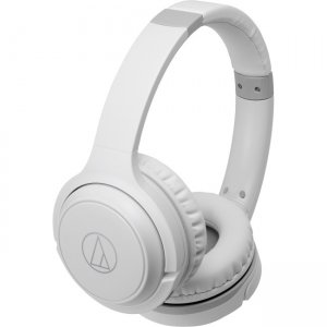 Audio-Technica ATH-S200BTWH Wireless On-Ear Headphones with Built-in Mic & Controls