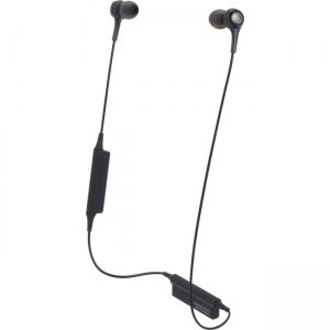 Audio-Technica ATH-CK200BTBK Wireless In-ear Headphones with In-line Mic & Control