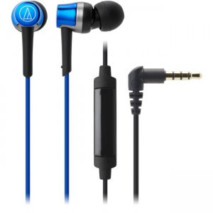 Audio-Technica ATH-CKR30ISBL SonicFuel In-Ear Headphones with In-line Mic & Control