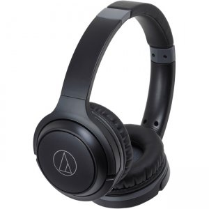 Audio-Technica ATH-S200BTBK Wireless On-Ear Headphones with Built-in Mic & Controls