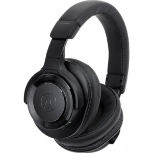 Audio-Technica ATH-WS990BTBK Solid Bass Wireless Over-Ear Headphones with Built-in Mic & Control