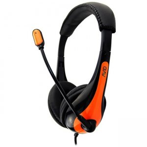 Avid 1EDUAE36ORANGE Education AE-36 Headset with Noise Cancelling Microphone and 3.5mm Plug, Orange