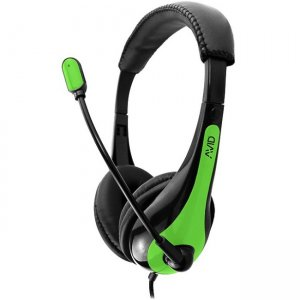 Avid 1EDUAE36GREEN Education AE-36 Headset with Noise Cancelling Microphone and 3.5mm Plug, Green