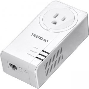 TRENDnet TPL-423E Powerline 1300 AV2 Adapter With Built-in Outlet