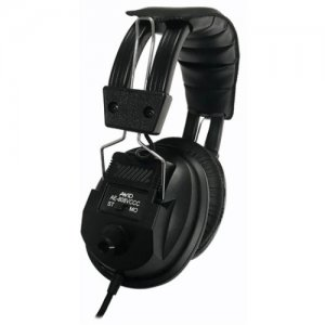 Avid 1AE808VCCCBKCS32 Education AE-808 Switchable Stereo/Mono Headphone with Voume Control, Black
