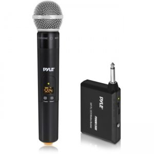 Pyle PDWM13UH Wireless Microphone System, Handheld Mic with 1/4'' Transmitter