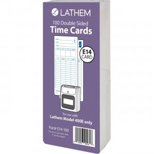 Lathem E14100 Model 400E Double Sided Time Cards LTHE14100