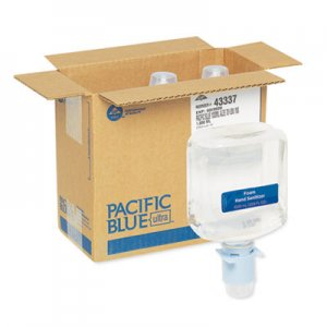 Georgia Pacific Professional GPC43337 Pacific Blue Ultra Automated Sanitizer Dispenser Refill, 1000 mL Bottle, 3/CT