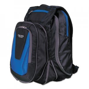 "Five Star MEA73417 Expandable Backpack, 14"" x 8"" x 19"", Blue/Black"