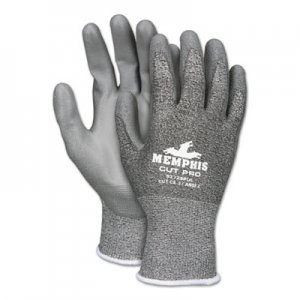 MCR Safety CRW92728PUM Memphis Cut Pro 92728PU Glove, Black/White/Gray, Medium, Dozen