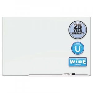 "Quartet QRTG7442E Element Framed Magnetic Glass Dry-Erase Boards, 74"" x 42"", Aluminum Frame"