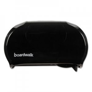 Boardwalk BWK1502 Standard Twin Toilet Tissue Dispenser, 13 x 8 3/4, Black