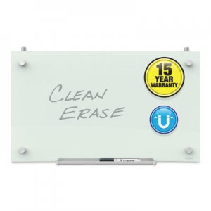 Quartet QRTPDEC1830 Infinity Magnetic Glass Dry Erase Cubicle Board, 18 x 30, White
