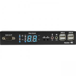 Black Box VX-HDMI-4KIP-RX MediaCento IPX 4K Receiver - HDMI, USB, Serial, IR, Audio