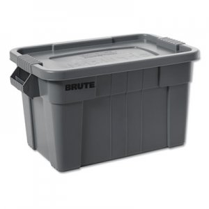Rubbermaid Commercial RCP9S30GRACT BRUTE Tote with Lid, 14 gal, 27 1/2w x 16 3/4d x 10 3/4h