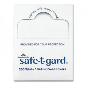 "Georgia Pacific Professional GPC47047 Seat Covers Safe-T-Gard, 17"" x 14.5"" White, 25/Carton"