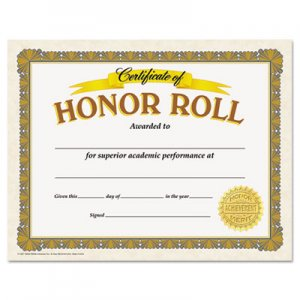 TREND TEPT11307 Awards and Certificates, Honor Roll, 8 1/2 x 11, White/Brown/Gold