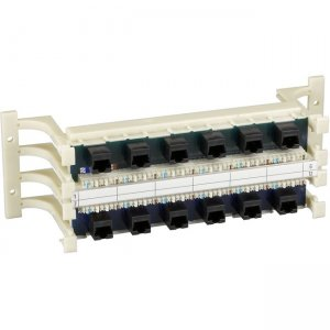 Black Box 36715-R2 Prewired 110 Block with Universal Wiring - CAT5, RJ45, 100-Pair, 12-Port