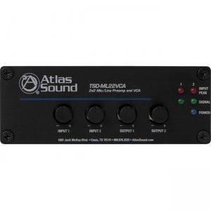 Atlas Sound TSD-ML22VCA 2 x 2 Mic/Line Preamp and VCA