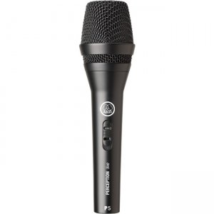 AKG 3100H00120 High-Performance Dynamic Vocal Microphone With On/Off Switch