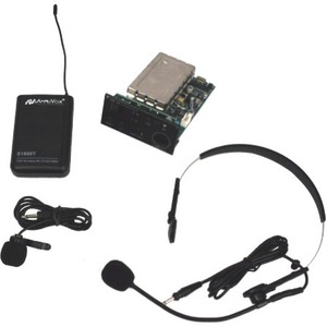 AmpliVox S9112 Panel Mount Receiver with Lapel & Headset Mic Kit