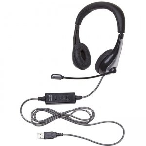 Califone 1025MUSB NeoTech USB Headset, Mic with CaliTuff Braided Cord