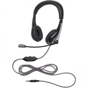 Califone 1025MT NeoTech Plus Headset, Mic, 3.5mm stereo plug with CaliTuff Braided Cord