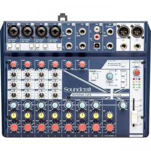 Soundcraft 5085985US Small-Format Analog Mixing Console with USB I/O and Lexicon Effects