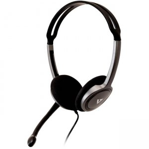 V7 HA212-2NP Lightweight Stereo Headset with Microphone