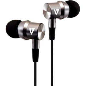 V7 HA111-3NB Noise Isolating Stereo Earbuds with Microphone