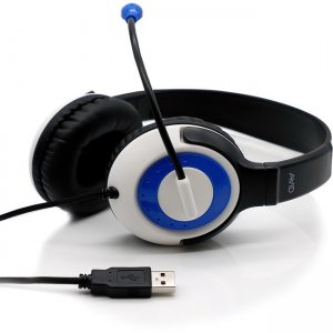 Avid 2EDU-AE55US-BBLU AE-55 Headset with Rotating Microphone, USB, Blue