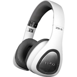 Veho VEP-016-ZB6-WH On-Ear Wireless Headphones (White)